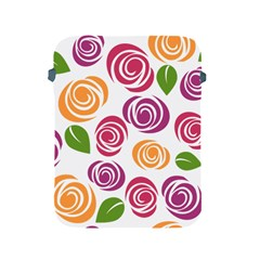 Colorful Seamless Floral Flowers Pattern Wallpaper Background Apple Ipad 2/3/4 Protective Soft Cases