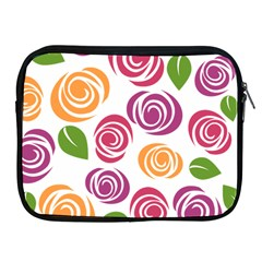 Colorful Seamless Floral Flowers Pattern Wallpaper Background Apple Ipad 2/3/4 Zipper Cases
