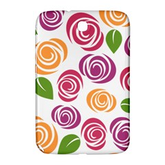 Colorful Seamless Floral Flowers Pattern Wallpaper Background Samsung Galaxy Note 8 0 N5100 Hardshell Case