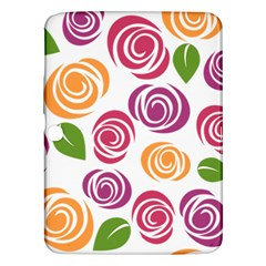 Colorful Seamless Floral Flowers Pattern Wallpaper Background Samsung Galaxy Tab 3 (10 1 ) P5200 Hardshell Case