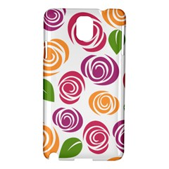 Colorful Seamless Floral Flowers Pattern Wallpaper Background Samsung Galaxy Note 3 N9005 Hardshell Case