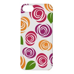 Colorful Seamless Floral Flowers Pattern Wallpaper Background Apple Iphone 5s/ Se Hardshell Case
