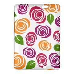 Colorful Seamless Floral Flowers Pattern Wallpaper Background Kindle Fire Hdx 8 9  Hardshell Case