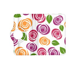 Colorful Seamless Floral Flowers Pattern Wallpaper Background Kindle Fire Hd (2013) Flip 360 Case