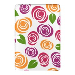 Colorful Seamless Floral Flowers Pattern Wallpaper Background Samsung Galaxy Tab Pro 10.1 Hardshell Case