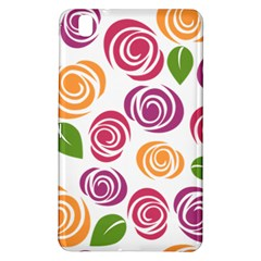 Colorful Seamless Floral Flowers Pattern Wallpaper Background Samsung Galaxy Tab Pro 8 4 Hardshell Case