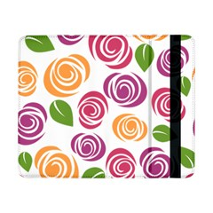 Colorful Seamless Floral Flowers Pattern Wallpaper Background Samsung Galaxy Tab Pro 8 4  Flip Case