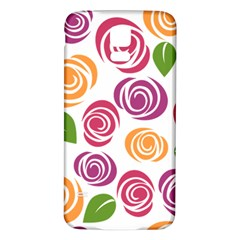 Colorful Seamless Floral Flowers Pattern Wallpaper Background Samsung Galaxy S5 Back Case (white)