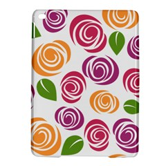 Colorful Seamless Floral Flowers Pattern Wallpaper Background Ipad Air 2 Hardshell Cases