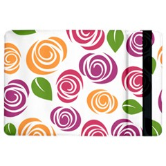 Colorful Seamless Floral Flowers Pattern Wallpaper Background Ipad Air 2 Flip