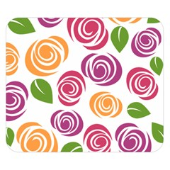 Colorful Seamless Floral Flowers Pattern Wallpaper Background Double Sided Flano Blanket (Small)