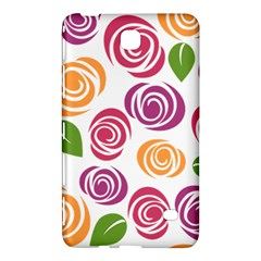 Colorful Seamless Floral Flowers Pattern Wallpaper Background Samsung Galaxy Tab 4 (7 ) Hardshell Case