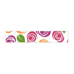 Colorful Seamless Floral Flowers Pattern Wallpaper Background Flano Scarf (Mini)