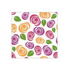 Colorful Seamless Floral Flowers Pattern Wallpaper Background Satin Bandana Scarf