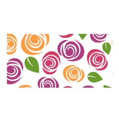 Colorful Seamless Floral Flowers Pattern Wallpaper Background Satin Wrap