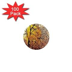 Summer Sun Set Fractal Forest Background 1  Mini Magnets (100 Pack)