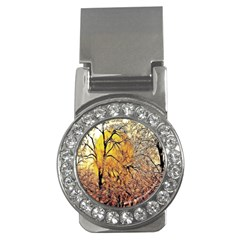 Summer Sun Set Fractal Forest Background Money Clips (CZ)