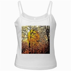 Summer Sun Set Fractal Forest Background Ladies Camisoles