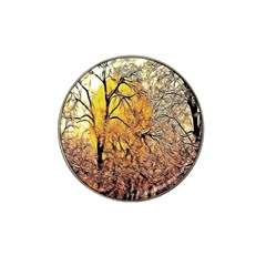Summer Sun Set Fractal Forest Background Hat Clip Ball Marker