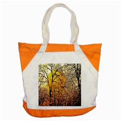 Summer Sun Set Fractal Forest Background Accent Tote Bag