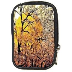 Summer Sun Set Fractal Forest Background Compact Camera Cases