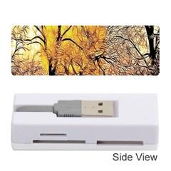 Summer Sun Set Fractal Forest Background Memory Card Reader (stick)