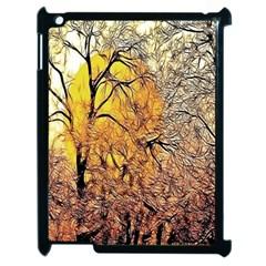 Summer Sun Set Fractal Forest Background Apple iPad 2 Case (Black)