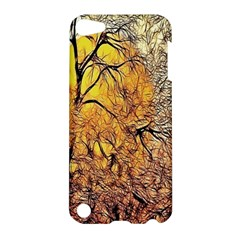 Summer Sun Set Fractal Forest Background Apple iPod Touch 5 Hardshell Case