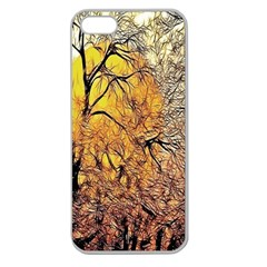 Summer Sun Set Fractal Forest Background Apple Seamless Iphone 5 Case (clear)