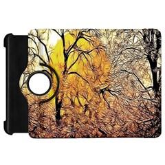 Summer Sun Set Fractal Forest Background Kindle Fire Hd 7