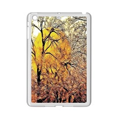 Summer Sun Set Fractal Forest Background Ipad Mini 2 Enamel Coated Cases