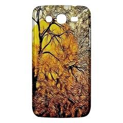 Summer Sun Set Fractal Forest Background Samsung Galaxy Mega 5 8 I9152 Hardshell Case
