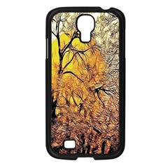 Summer Sun Set Fractal Forest Background Samsung Galaxy S4 I9500/ I9505 Case (black)