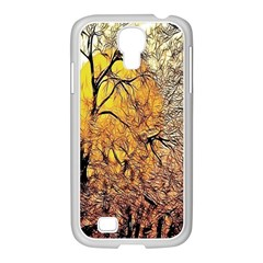 Summer Sun Set Fractal Forest Background Samsung Galaxy S4 I9500/ I9505 Case (white)