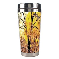 Summer Sun Set Fractal Forest Background Stainless Steel Travel Tumblers