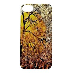 Summer Sun Set Fractal Forest Background Apple Iphone 5s/ Se Hardshell Case