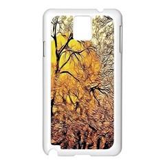 Summer Sun Set Fractal Forest Background Samsung Galaxy Note 3 N9005 Case (white)