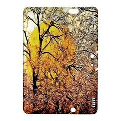 Summer Sun Set Fractal Forest Background Kindle Fire Hdx 8 9  Hardshell Case