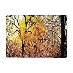 Summer Sun Set Fractal Forest Background Ipad Mini 2 Flip Cases