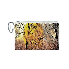 Summer Sun Set Fractal Forest Background Canvas Cosmetic Bag (s)