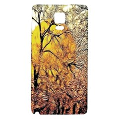 Summer Sun Set Fractal Forest Background Galaxy Note 4 Back Case