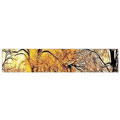 Summer Sun Set Fractal Forest Background Flano Scarf (small)