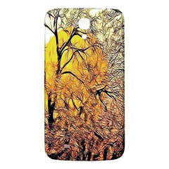Summer Sun Set Fractal Forest Background Samsung Galaxy Mega I9200 Hardshell Back Case