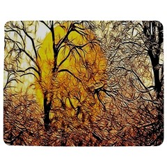 Summer Sun Set Fractal Forest Background Jigsaw Puzzle Photo Stand (rectangular)