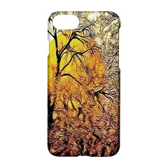 Summer Sun Set Fractal Forest Background Apple Iphone 7 Hardshell Case