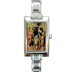 Artistic Effect Fractal Forest Background Rectangle Italian Charm Watch