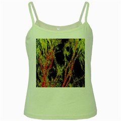 Artistic Effect Fractal Forest Background Green Spaghetti Tank