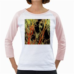 Artistic Effect Fractal Forest Background Girly Raglans