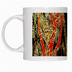 Artistic Effect Fractal Forest Background White Mugs