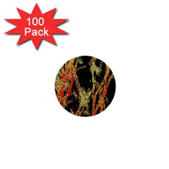 Artistic Effect Fractal Forest Background 1  Mini Buttons (100 Pack)